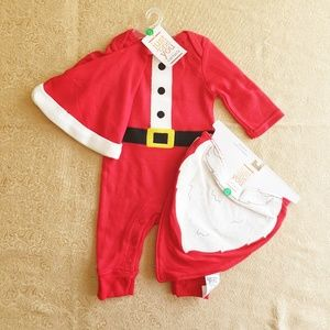 Carter's Matching Sets - Nwt Just one you by Carter's Santa bodysuit set